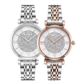 【女士手表】爆款满天星满钻女表钢带女士时尚石英手表