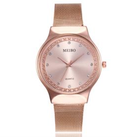 【女士手表】新款2019渐变色石女士英表时尚手表金属表