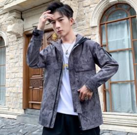 【男装】秋冬季男士风衣夹克潮流青年时尚帅气中长款外套男装修身连帽披风