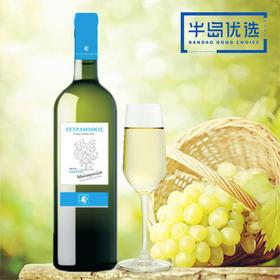 【半岛商城】希腊进口 原装高端 特拉梅托干白葡萄酒 750ml*2瓶