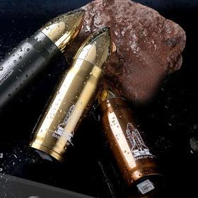 军用水壶户外行军304不锈钢保温便携子弹头水壶军迷用水壶