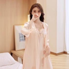 Avann冰丝性感蕾丝吊裙睡衣五件套   一套穿出女人万种风情,丝滑到挂不住性感