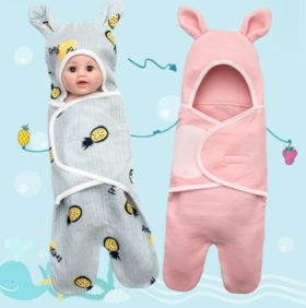 【婴儿用品】婴儿防惊跳睡袋新生儿襁褓包被宝宝抱毯春夏季薄0-3个月