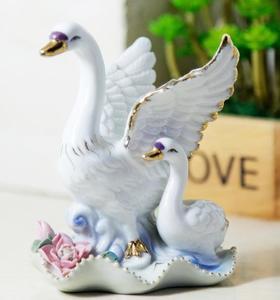 【装饰品】陶瓷摆件小天鹅装饰品