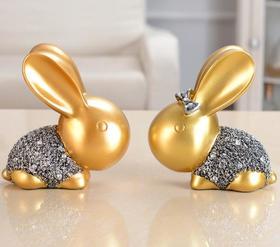 【装饰品】工艺品树脂摆件招财兔