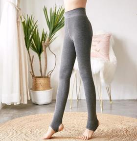 【打底裤】冬季显瘦竖条纹一体裤 螺纹棉连袜外穿打底裤