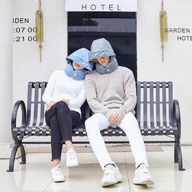 格格爱上班  小宝午睡枕经典款 帽子颈枕一体设计 遮光遮睡相 双曲线设计 自然托扶 均衡释压 20秒闪速收纳