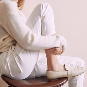 【为舒适而生】Wayne Flex韦恩 1144-鹿皮内里 菱格圆头单鞋 职业妈妈大爱款 平底 韩版女款
