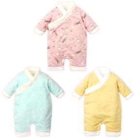 【婴儿用品】婴儿爬爬服加厚加绒宝宝保暖连体服哈衣新生儿幼儿童母婴