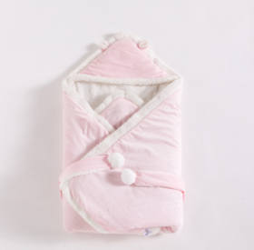 【婴儿用品】婴儿秋冬抱被羊羔绒加厚包被宝宝睡袋新生儿襁褓包巾儿童毯新生儿