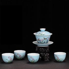 宝瓷林 颜色釉百年好合5头茶具