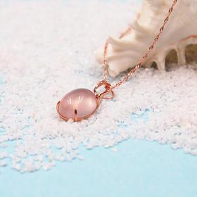 925纯银天然芙蓉石项链