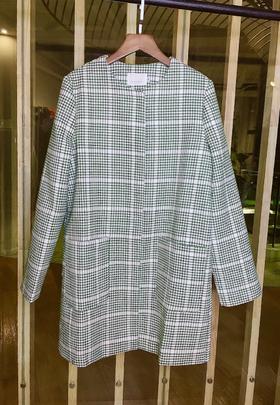 MAISON COVET自有品牌 千鸟格纹混纺大衣