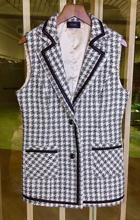 预售 MAISON COVET自有品牌 粗花呢西装领背心