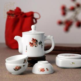 艺术浦东 吴昌硕系列旅行茶具套装《佛手》《杜鹃》《风竹》