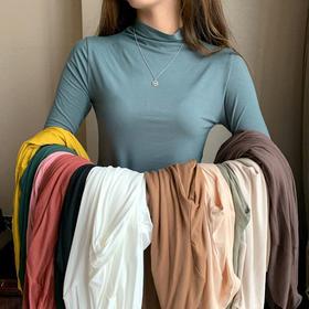 【贴身显瘦 1秒塑形】一年可以穿3季的百搭打底针织衫 12色任选 吸湿排汗