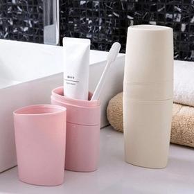 罗曼堂旅行牙刷盒便携式洗漱口杯刷牙杯子套装情侣创意简约牙具收纳ZMLMTAf1