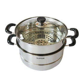 【精选】苏泊尔畅享经典不锈钢双层蒸锅|一锅多用,锅盖双层通用|VZ26BS01【厨房用品】