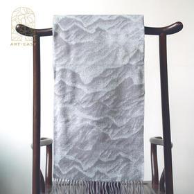 艺术浦东 仇德树《山海之盟》羊绒围巾