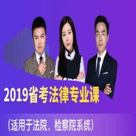 2019青海省考法律專業課(適用于法院、檢察院系統)
