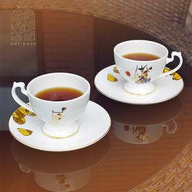 艺术浦东 张桂铭《瓶花》咖啡杯碟
