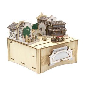 艺术浦东 古镇3D木质DIY音乐盒