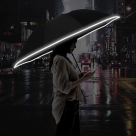 【告别雨夜危险出行】天使光环反向抗风暴汽车伞,一键自动开合,防泼水防湿车,雨夜出行保护伞