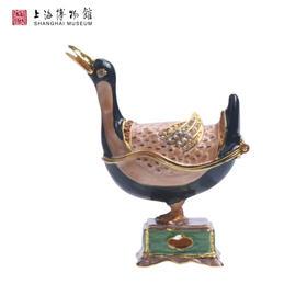 素三彩鸭形香熏首饰盒珠宝盒