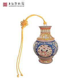 上海博物馆 合金书签清朝乾隆缠枝螭龙纹瓶 浮雕金属书签中国结绳