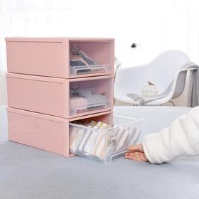 【内衣收纳盒】喜家家 抽屉式收纳柜收纳箱 整理箱储物柜内衣收纳盒  日用百货