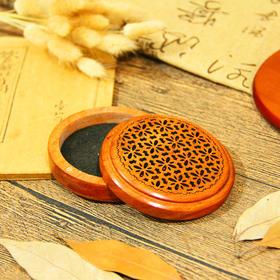 红木香炉带吸铁