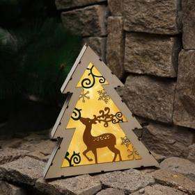 【装饰品】创意圣诞树灯光摆挂件