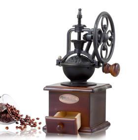 【咖啡机】复古摩天轮手摇磨豆机咖啡豆研磨机手动磨粉机陶瓷胡椒磨