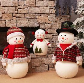 【装饰品】雪人家庭组合装饰摆件