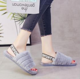 【拖鞋】新款毛绒拖鞋女防滑保暖韩版居家月子鞋室内平跟女士棉拖