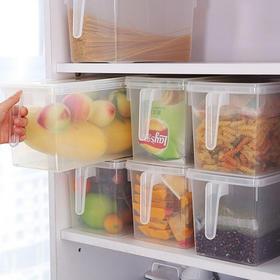 【冰箱收纳盒】喜家家 冰箱收纳盒 厨房密封罐保鲜盒 带手柄冷藏冷冻蔬菜水果储物盒  日用百货