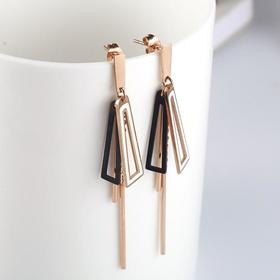 【首饰】新款热卖欧美流苏耳钉耳环几何型长款耳坠钛钢女生耳饰