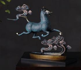 【装饰品】纯铜马雕塑品摆件