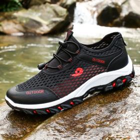 【登山鞋】夏季新款男士运动风网面鞋男防滑透气网鞋户外登山鞋