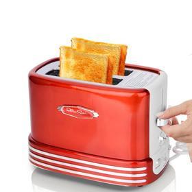 【面包机】Nostalgia两片多士炉烤面包机家用全自动土司机2片早餐机toaster