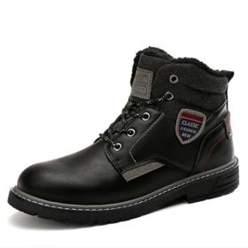 【登山鞋】加绒保暖男士大码雪地靴户外登山运动雪地靴