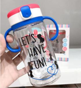 【儿童用品】TRITAN材质婴幼儿吸管杯 弹盖吸水杯 儿童学饮杯