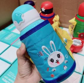 【儿童用品】儿童星星保温杯三盖不锈钢宝宝水杯600毫升背绳