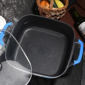 【电蒸锅】电蒸锅青花瓷印花多功能一体锅韩式家用一体功能蒸锅