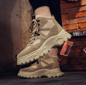 【登山鞋】中帮登山户外鞋男士休闲鞋学生增高运动鞋大码马丁靴男鞋工装鞋