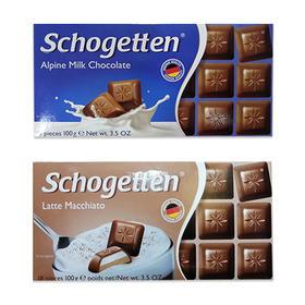 【半岛商城】德国美可馨小方块巧克力 100g*2块 牛奶&玛奇朵