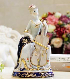 【装饰品】大提琴西洋女摆件