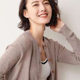 【为思礼】【柔软不仅是温度,更是一种对生活的态度】亲肤面料,圆领设计,柔软舒适,颜色多样,圆领宽松开衫