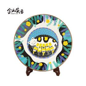 北欧ins现代简约创意装饰盘搪瓷盘