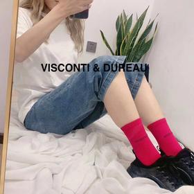 【内袜外穿 减龄加分】19年新款 VISCONTI & DUREAU 彩色堆堆袜  买六送一